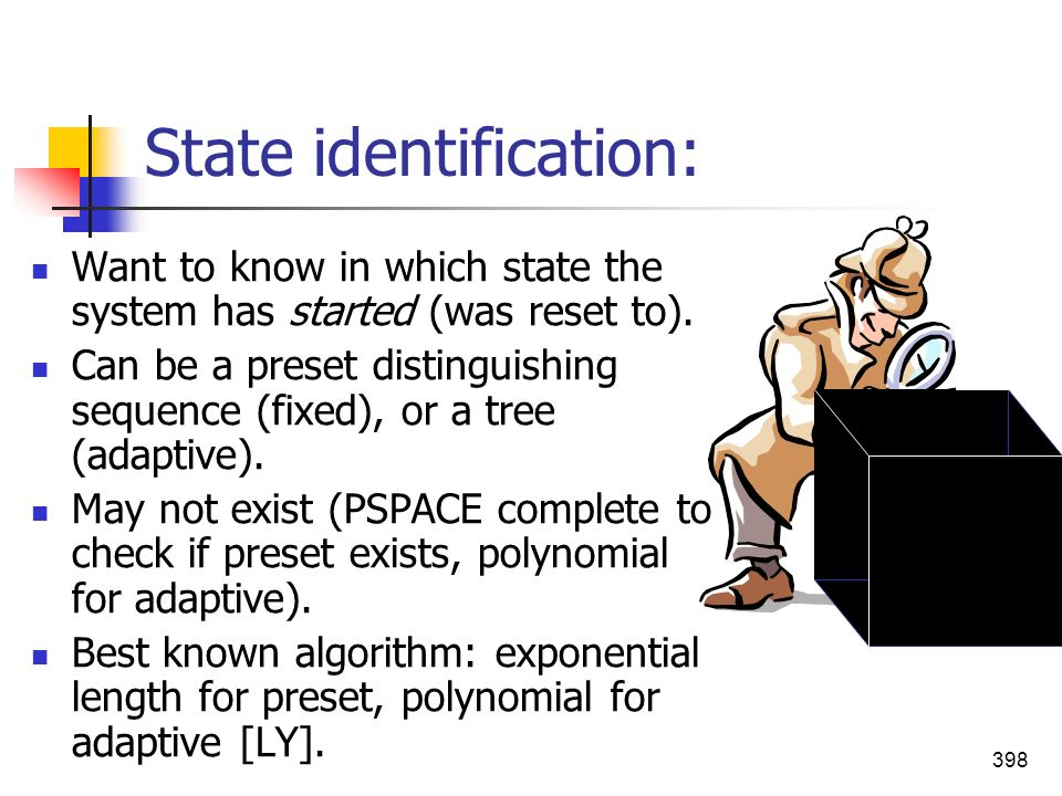 State identification: