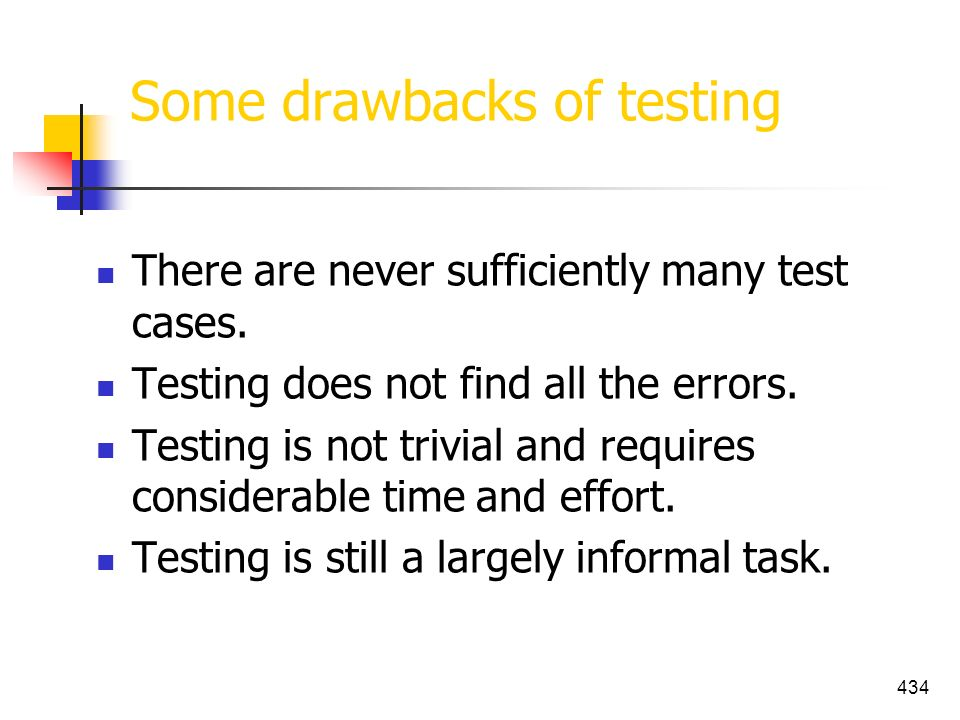 Some drawbacks of testing