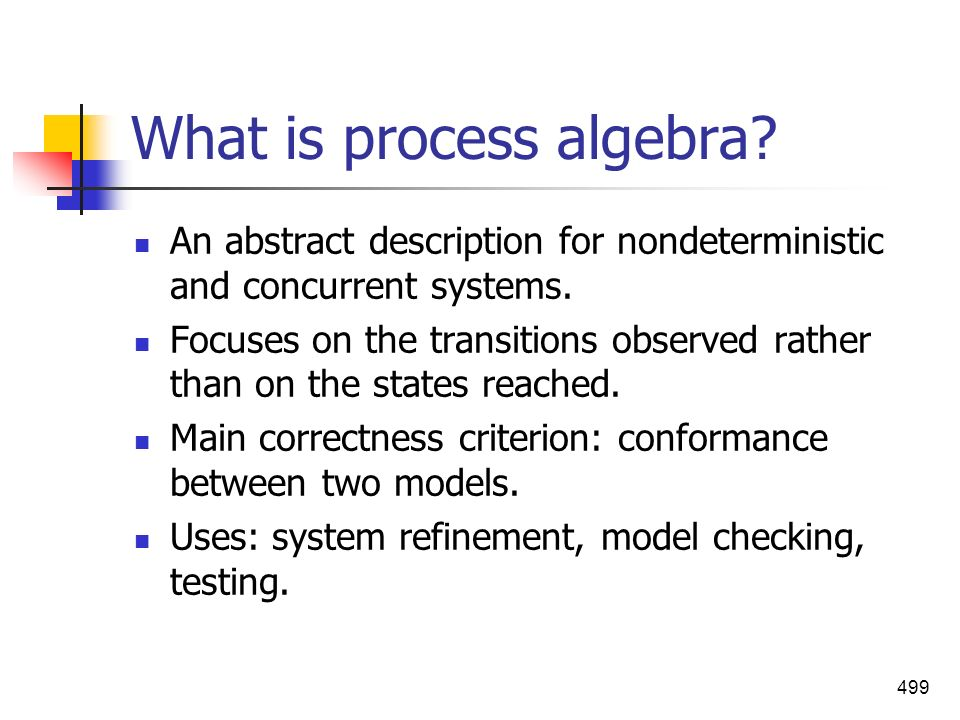 What is process algebra
