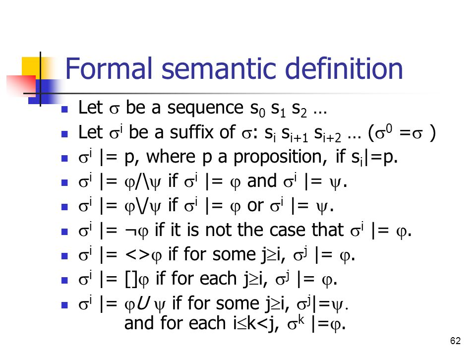 Formal semantic definition