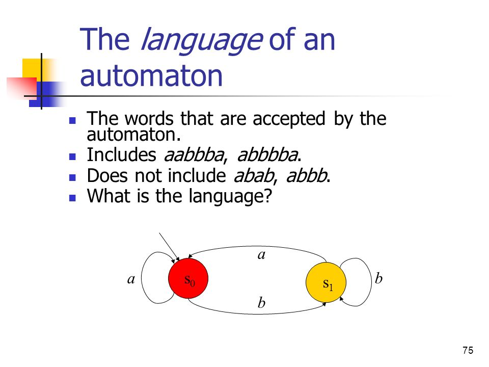 The language of an automaton