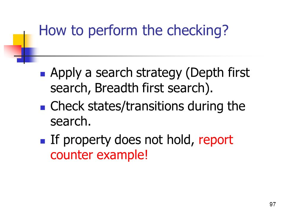 How to perform the checking