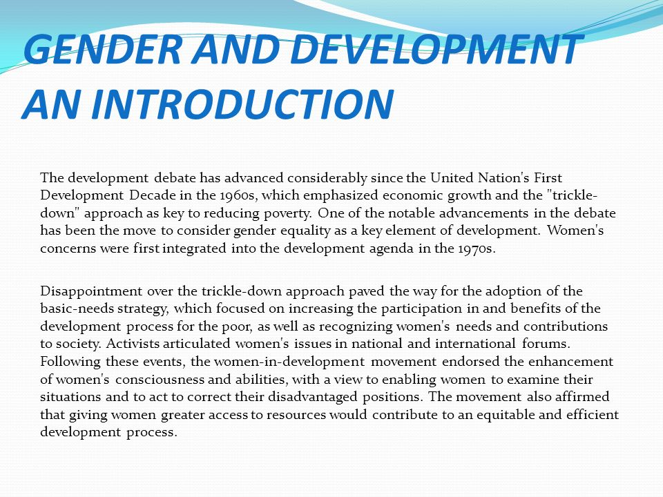 an introduction to the issue of gender preferences Gender preferences for children: a multi-country study  introduction gender preferences for children have been  the issue of gender preferences for children may.
