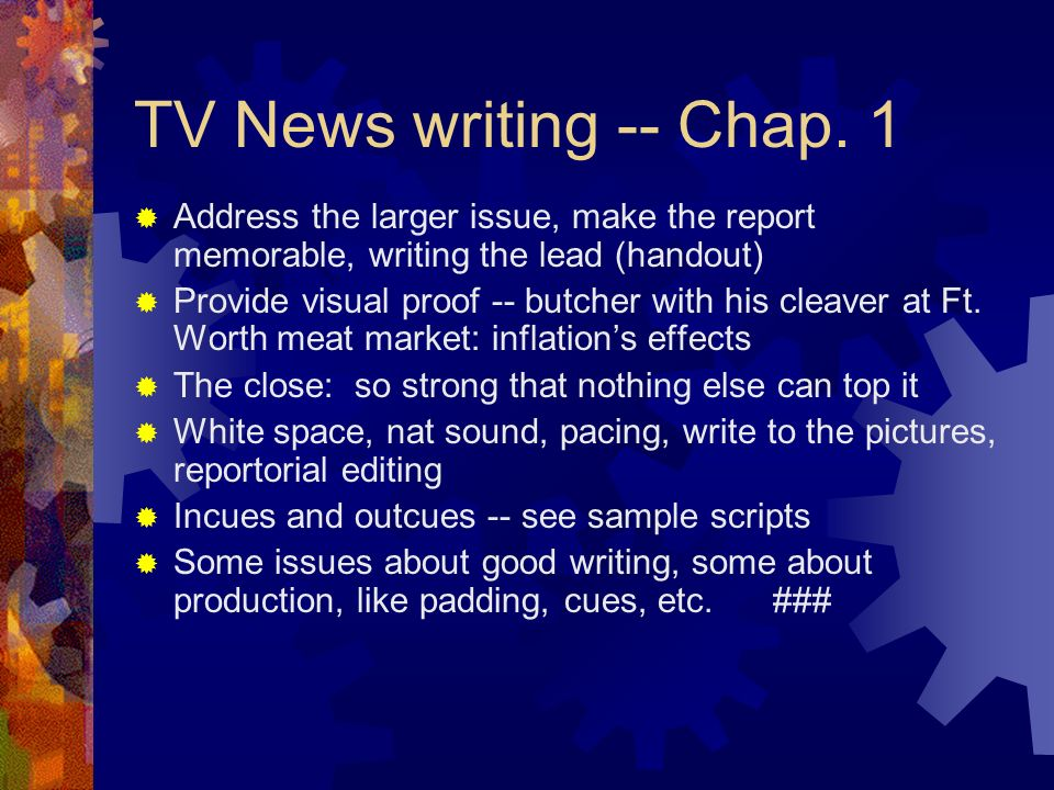 television broadcast essay Uses of television (essay sample) september 12, 2017 by admin essay samples, free essay samples facebook 1 twitter 0 google+ 0 viber whatsapp  television is an informative device in that it allows the broadcast of news both at local and global levels to ensure that all individuals are kept updated the information from such broadcasts is.