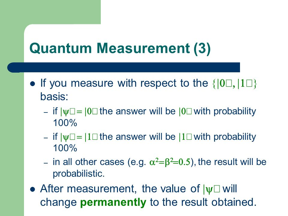 Quantum Measurement (3)