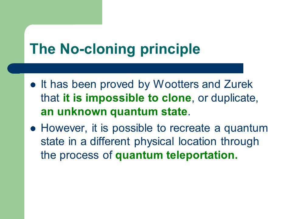 The No-cloning principle