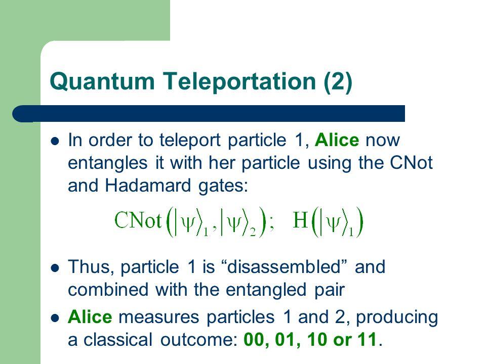 Quantum Teleportation (2)