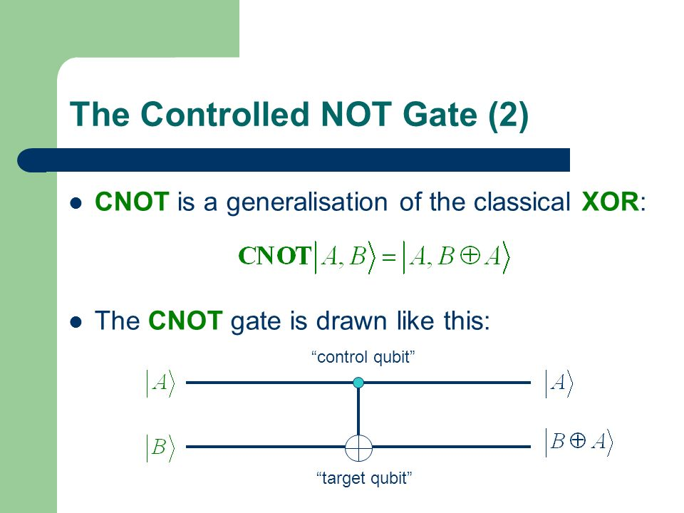 The Controlled NOT Gate (2)