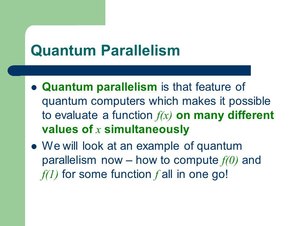 Quantum Parallelism