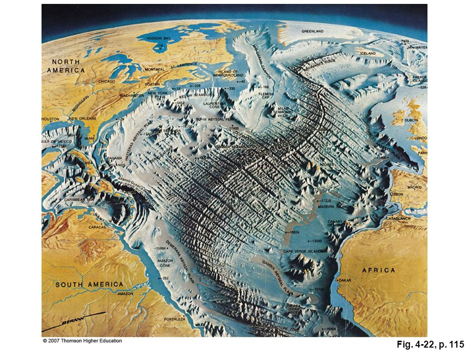 Alvin the most famous and accomplished of the small research figure 422 heinrich beranns hand drawn map of a portion of the atlantic ocean sciox Image collections