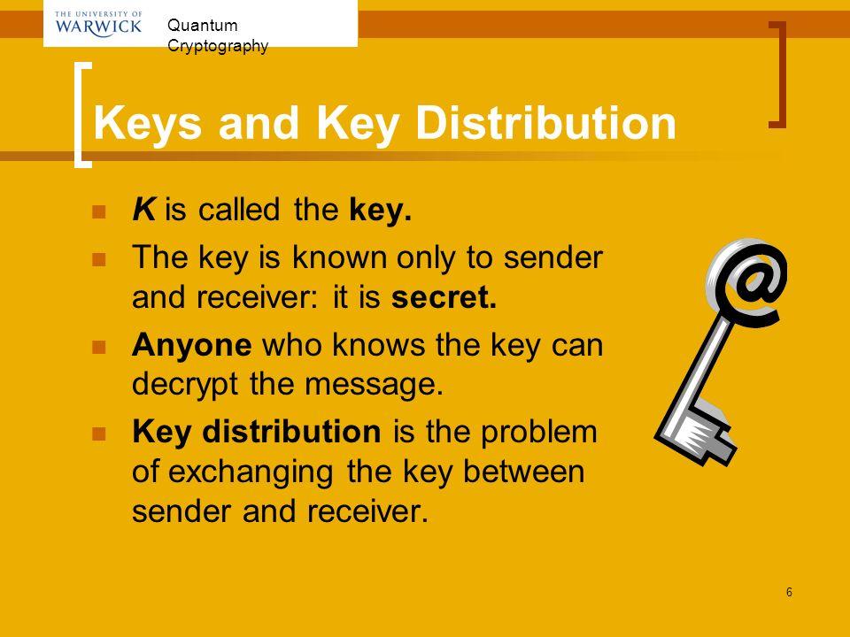 Keys and Key Distribution