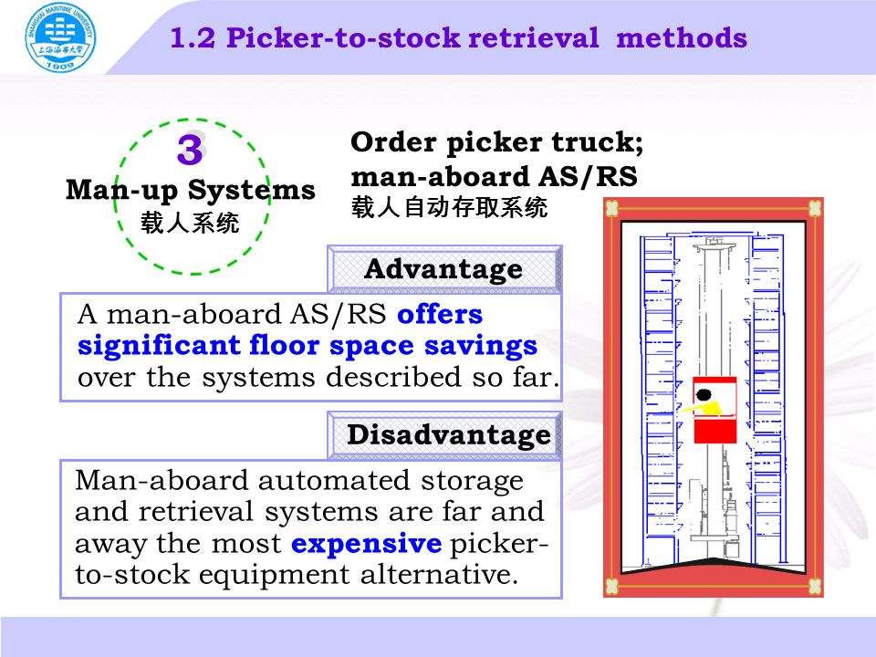 automated storage and retrieval system advantages and disadvantages pdf