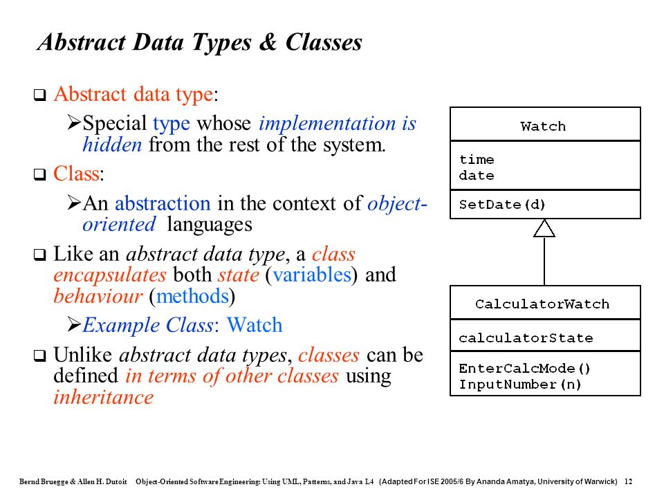 Abstract Data Types & Classes