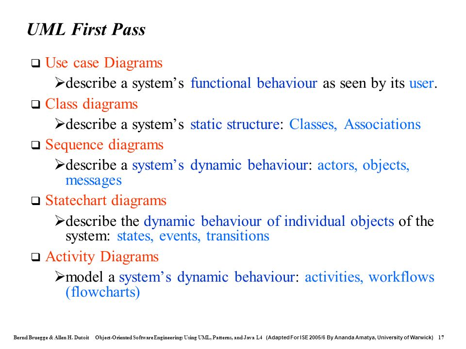 UML First Pass Use case Diagrams