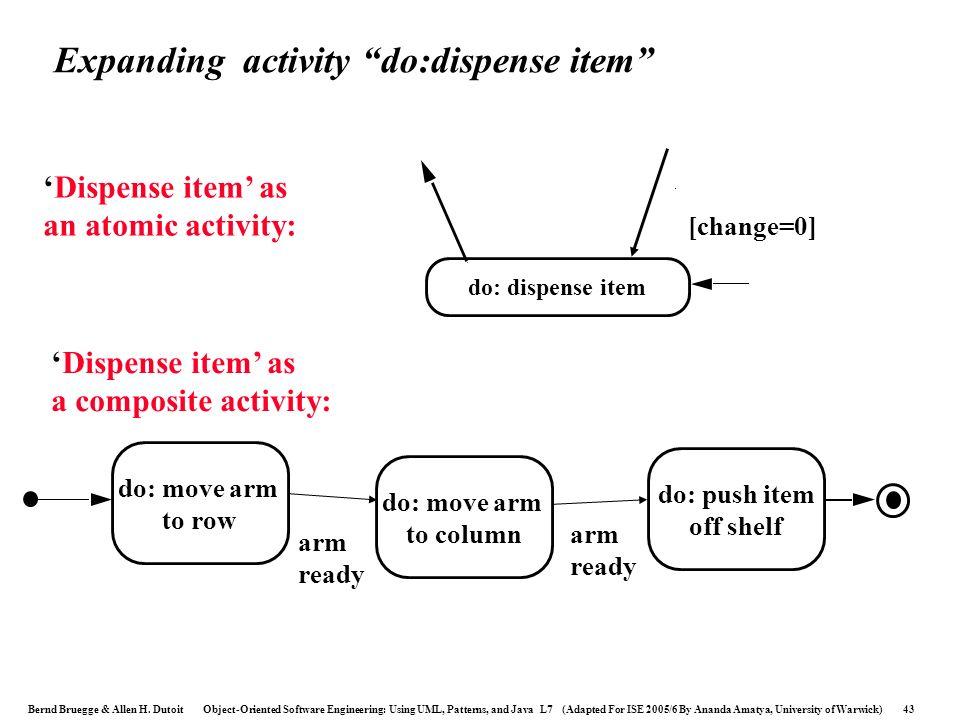 Expanding activity do:dispense item