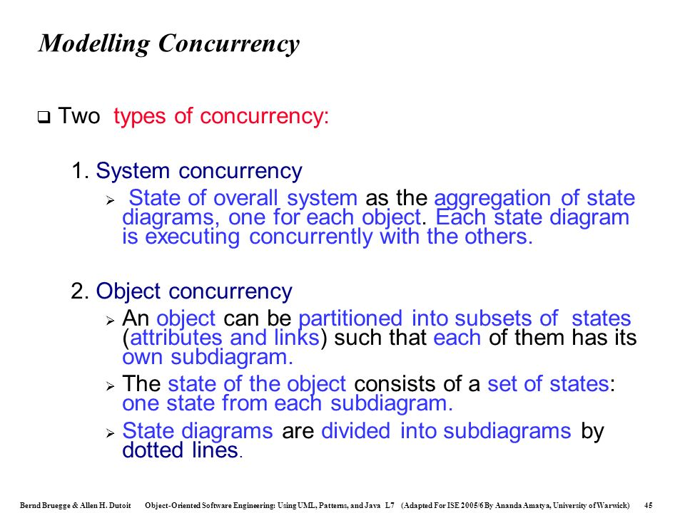 Modelling Concurrency