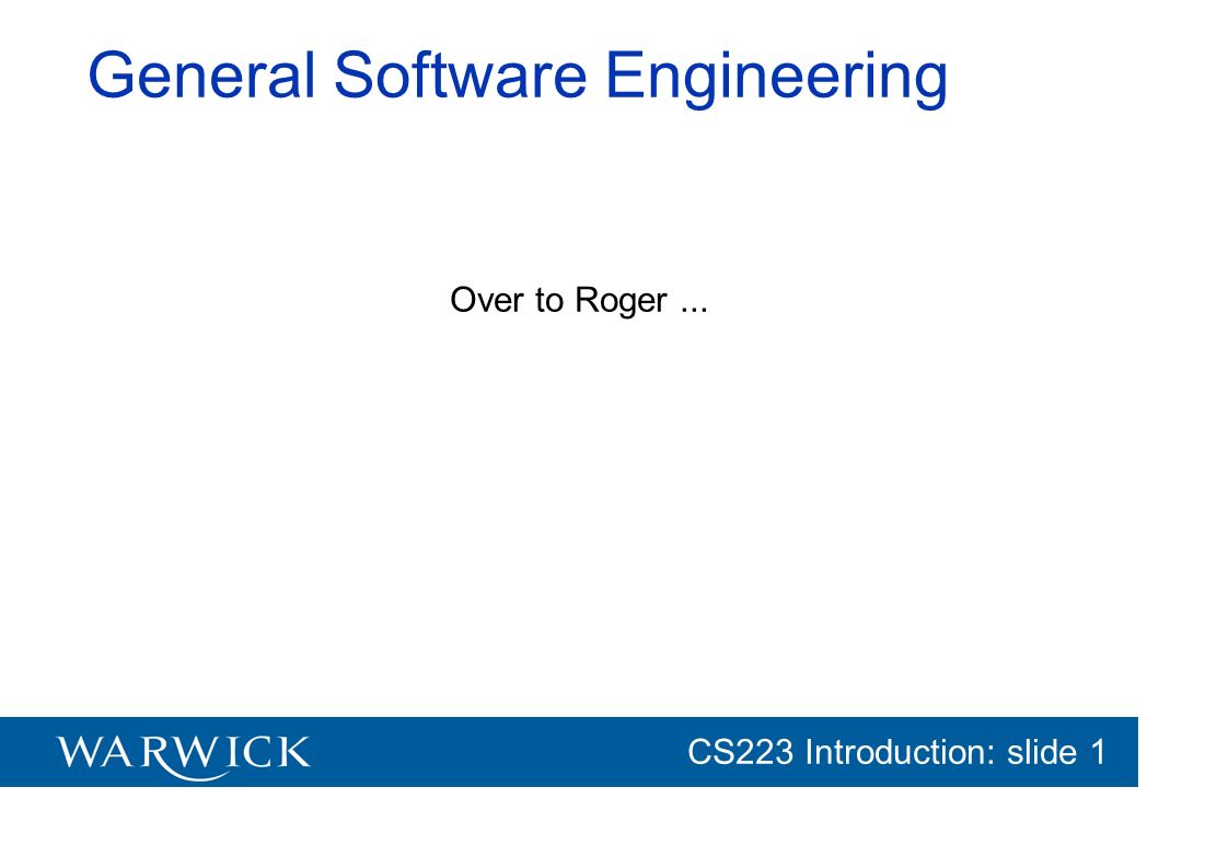 General Software Engineering