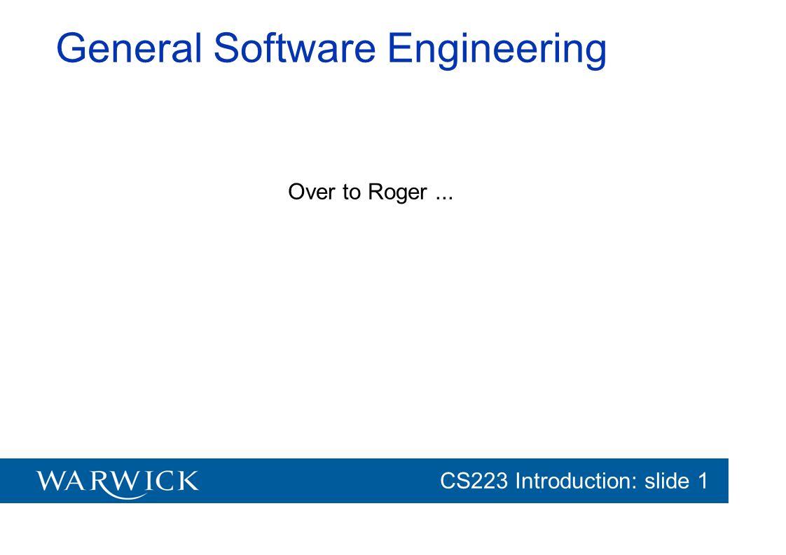 General Software Engineering