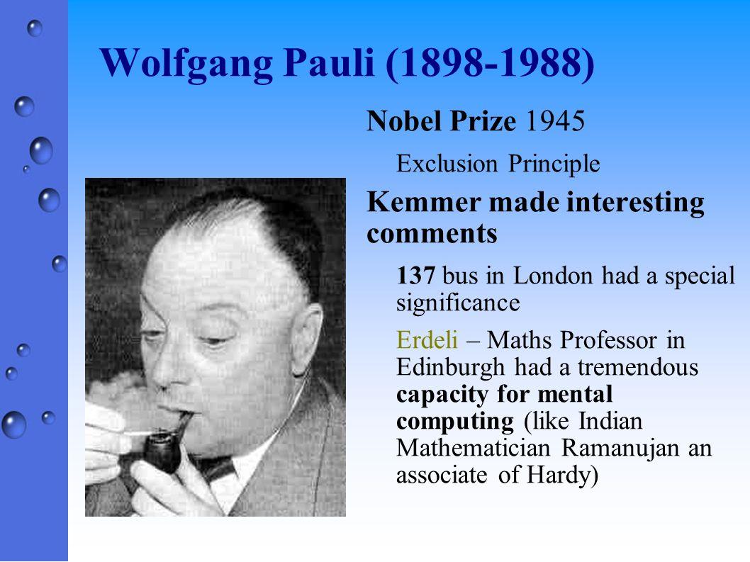Wolfgang Pauli (1898-1988) Nobel Prize 1945