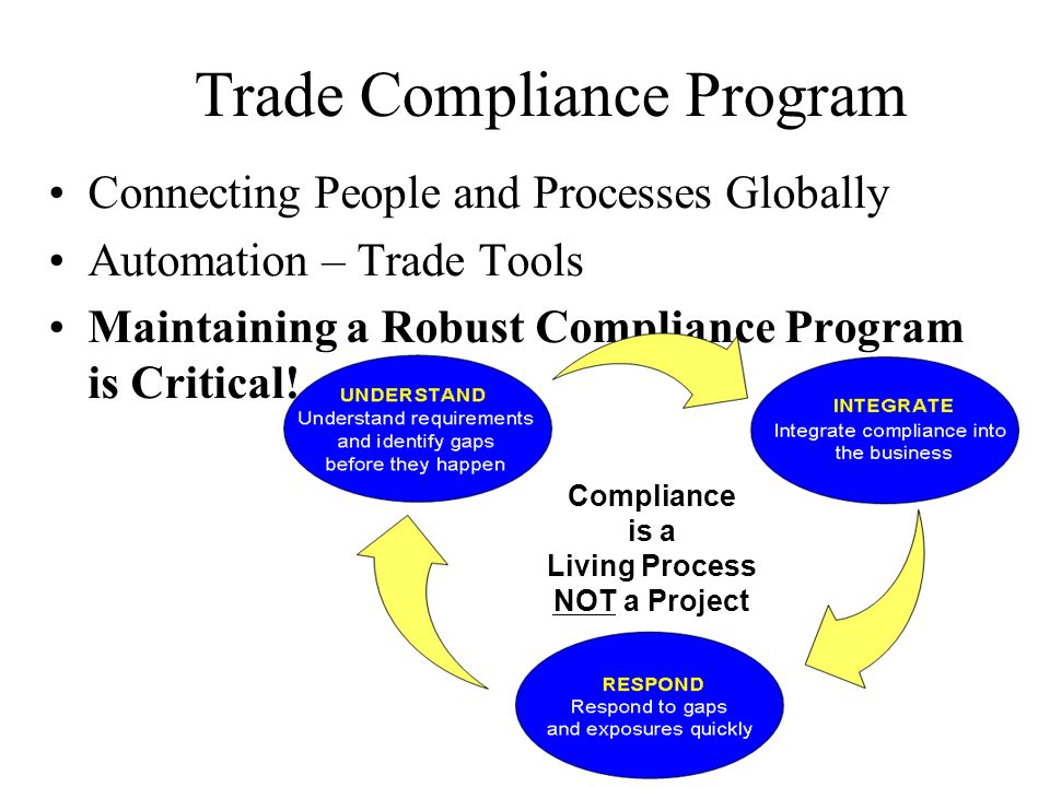 how to build an export compliance program