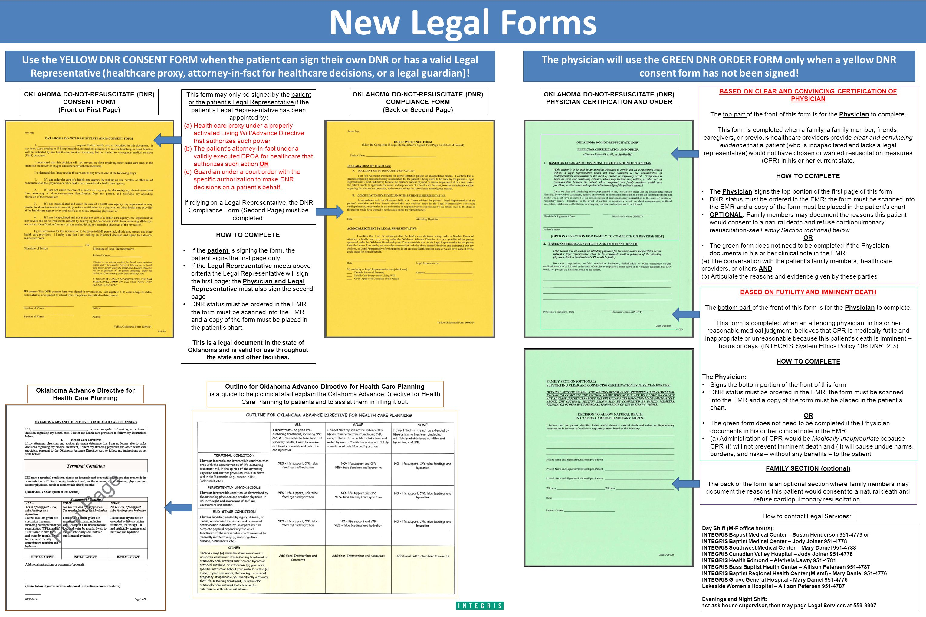 New Legal Forms Use the YELLOW DNR CONSENT FORM when the patient ...
