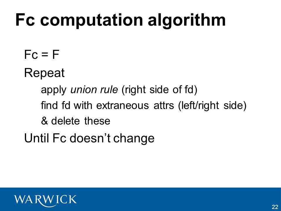 Fc computation algorithm