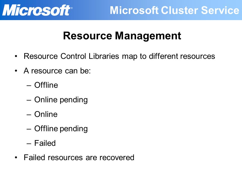 Microsoft Cluster Service