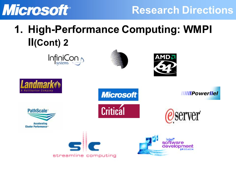 High-Performance Computing: WMPI II(Cont) 2