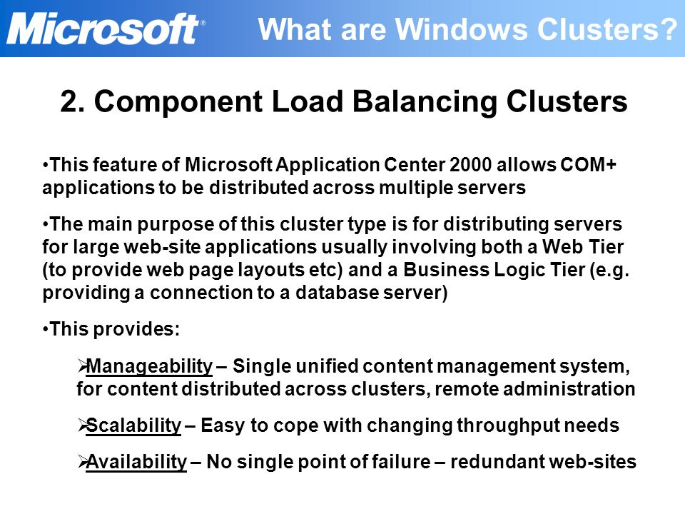 What are Windows Clusters