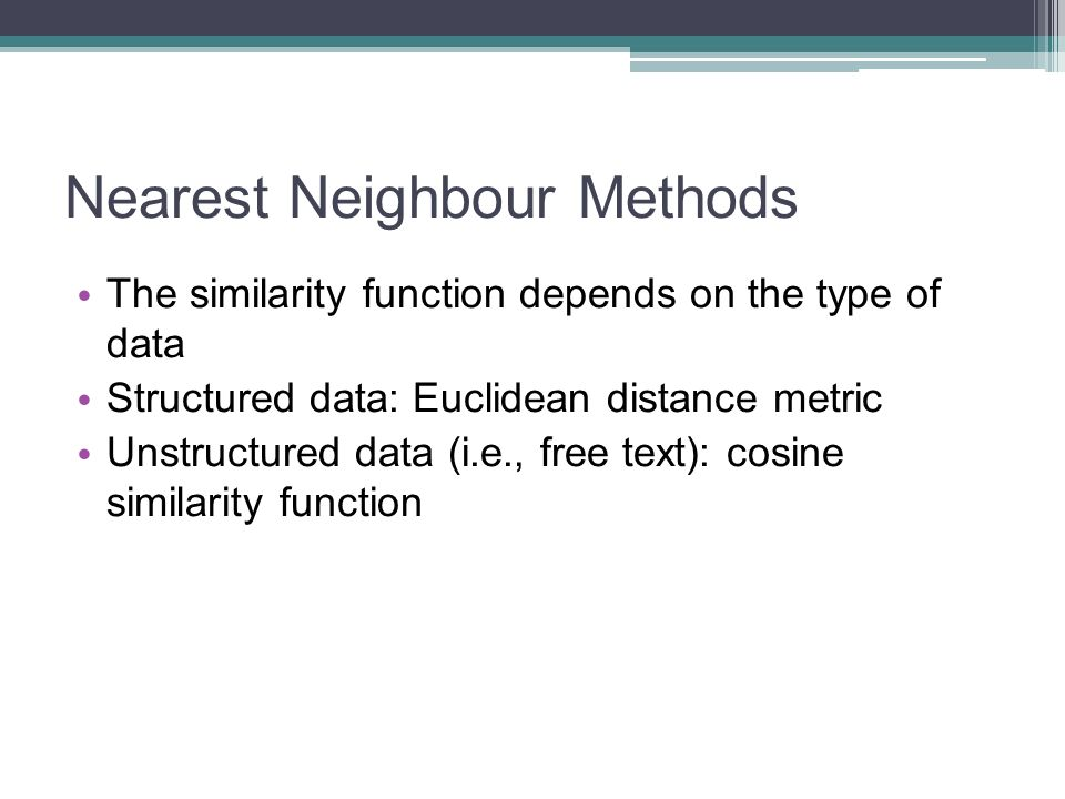 Nearest Neighbour Methods