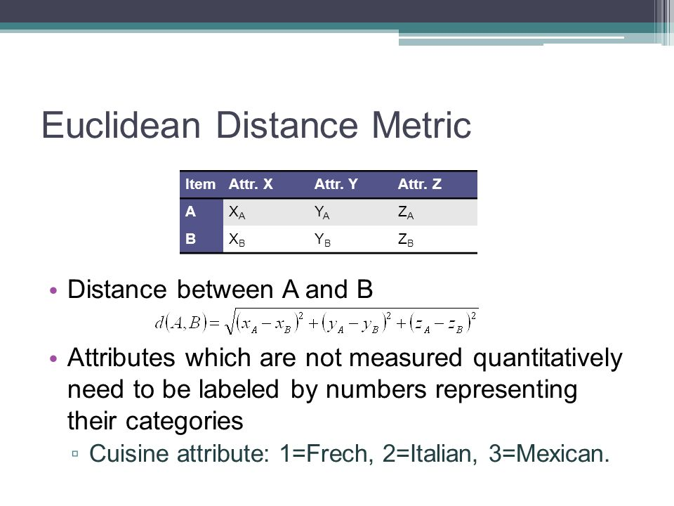 Euclidean Distance Metric