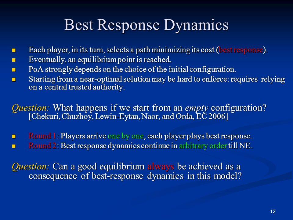 Best Response Dynamics