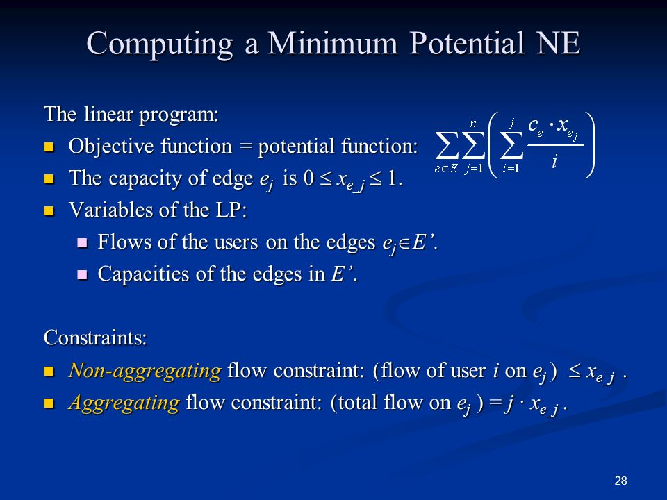 Computing a Minimum Potential NE