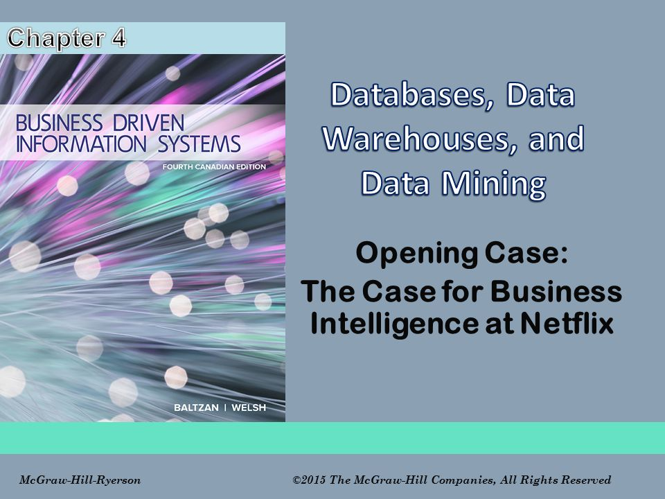 Databases, Data Warehouses, and Data Mining