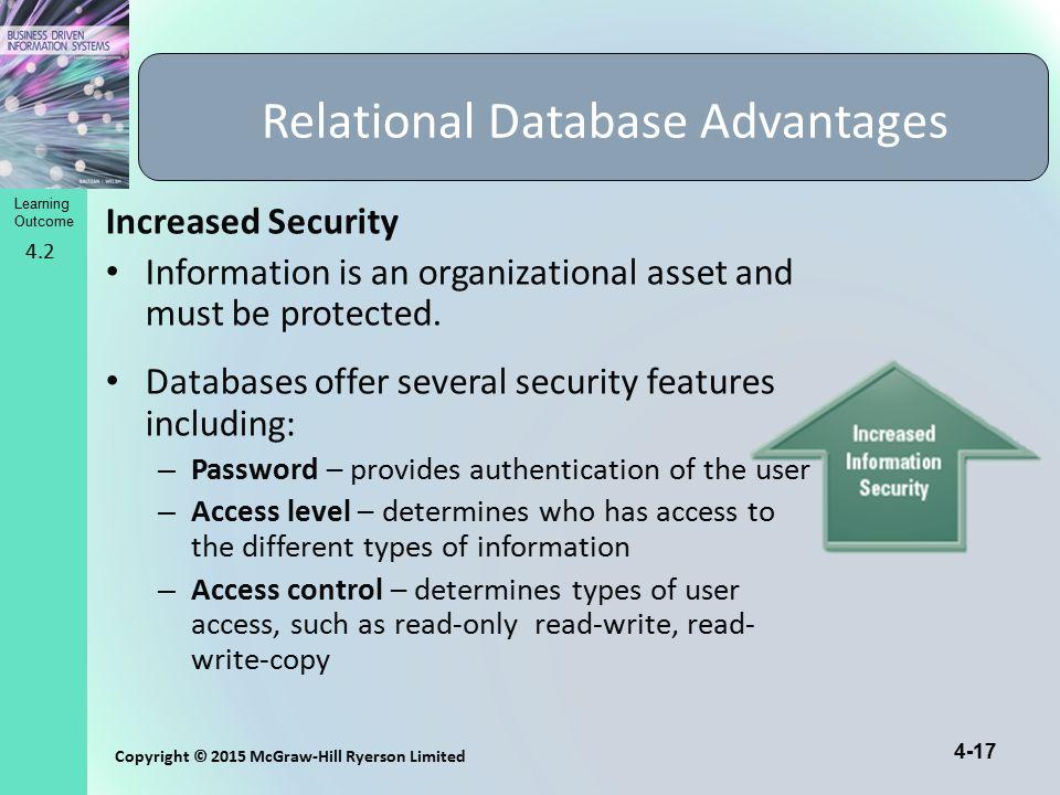 Relational Database Advantages