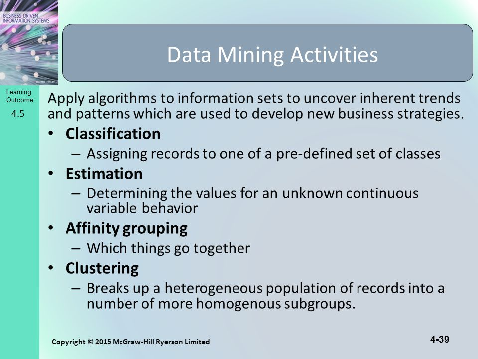 Data Mining Activities