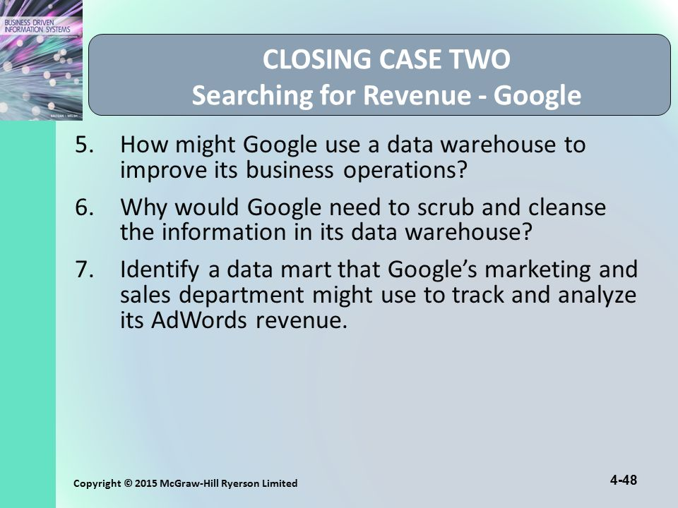 CLOSING CASE TWO Searching for Revenue - Google