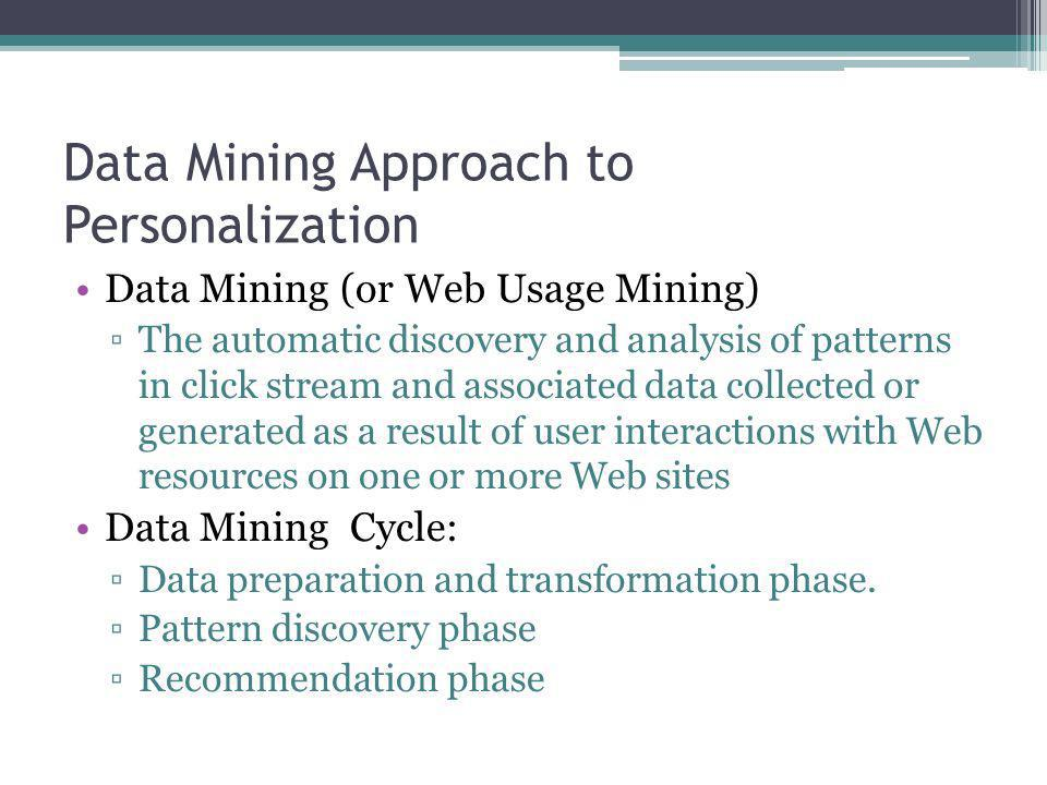 Data Mining Approach to Personalization