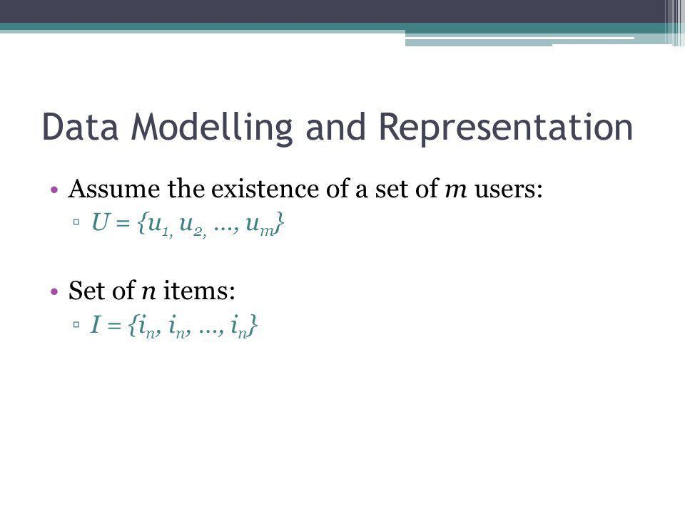 Data Modelling and Representation