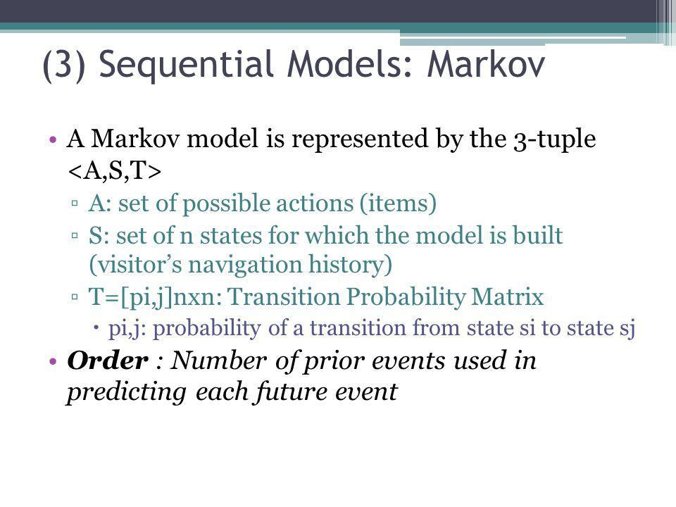 (3) Sequential Models: Markov