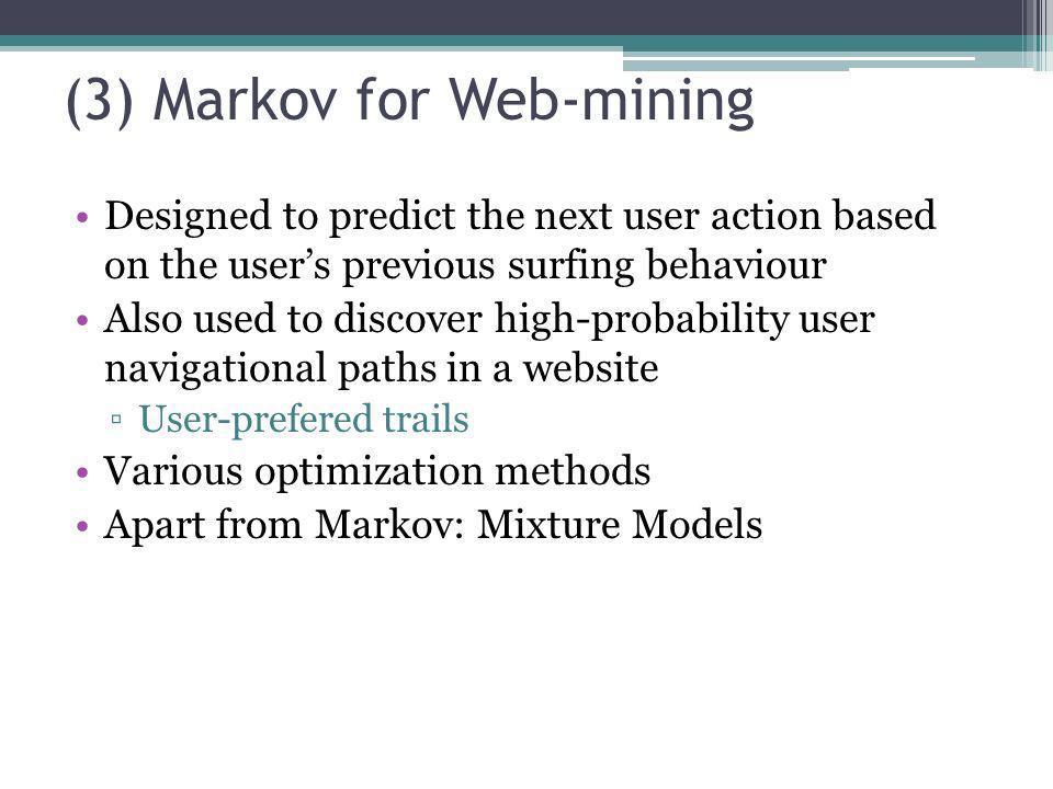 (3) Markov for Web-mining
