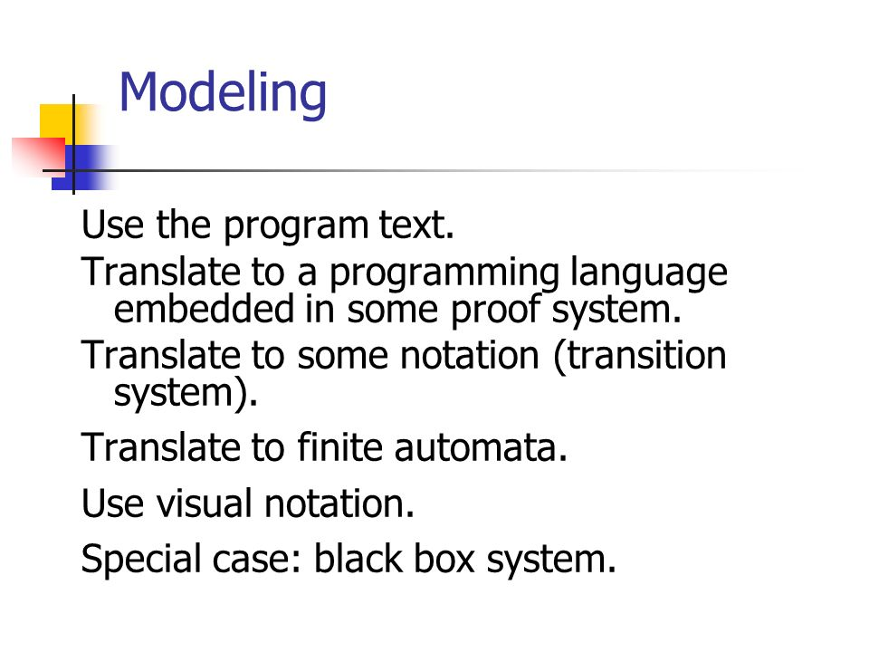 Modeling Use the program text.