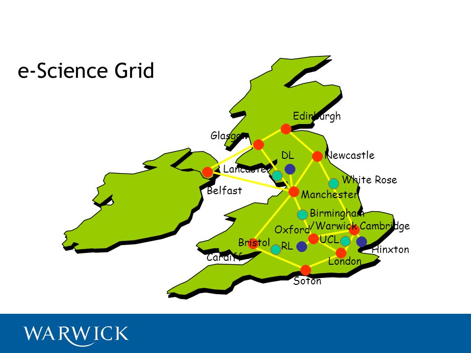 e-Science Grid Edinburgh Glasgow DL Newcastle Lancaster White Rose