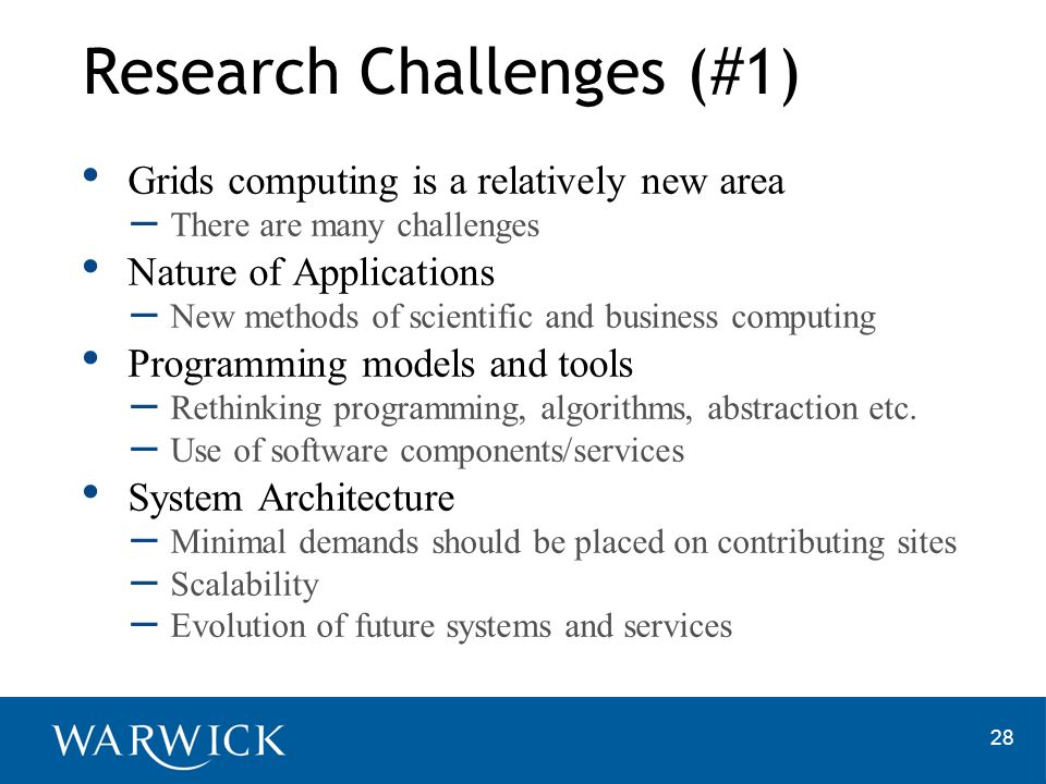 Research Challenges (#1)