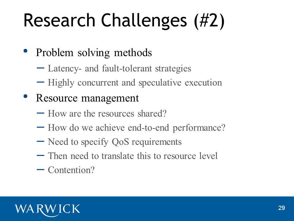 Research Challenges (#2)