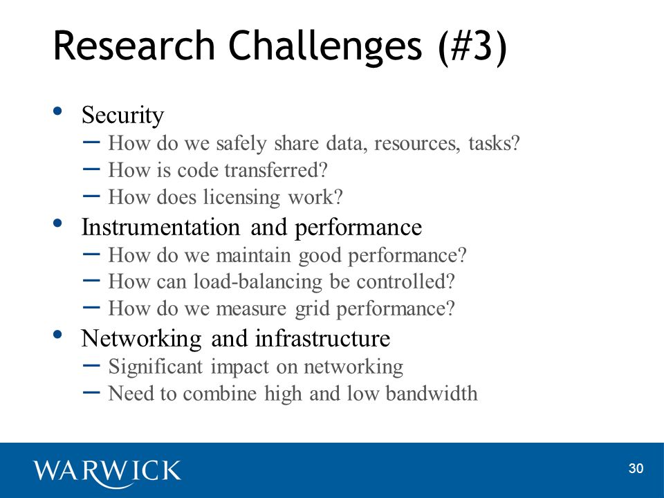 Research Challenges (#3)