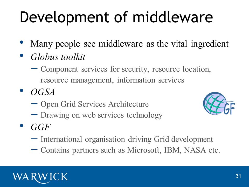 Development of middleware