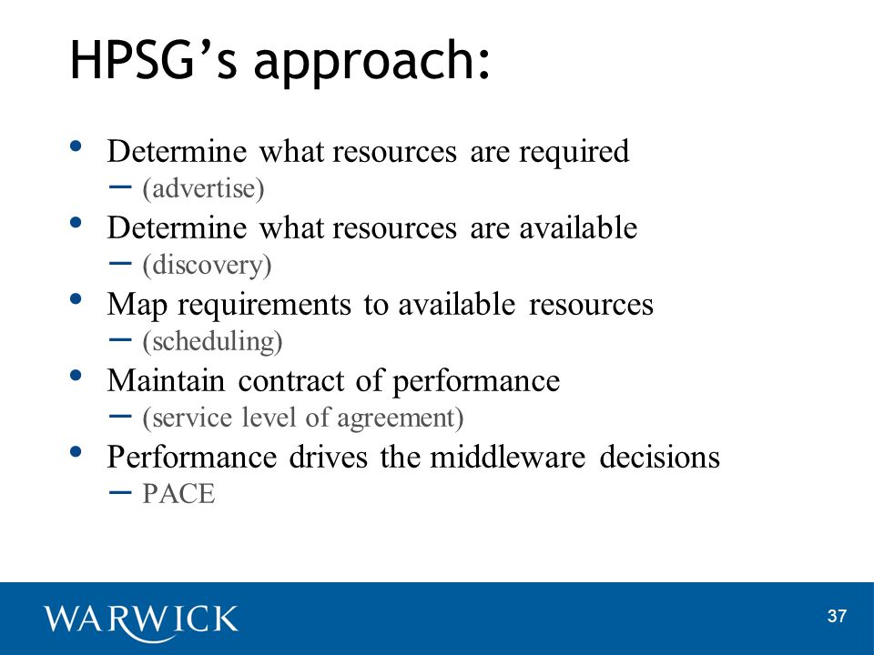 HPSG's approach: Determine what resources are required