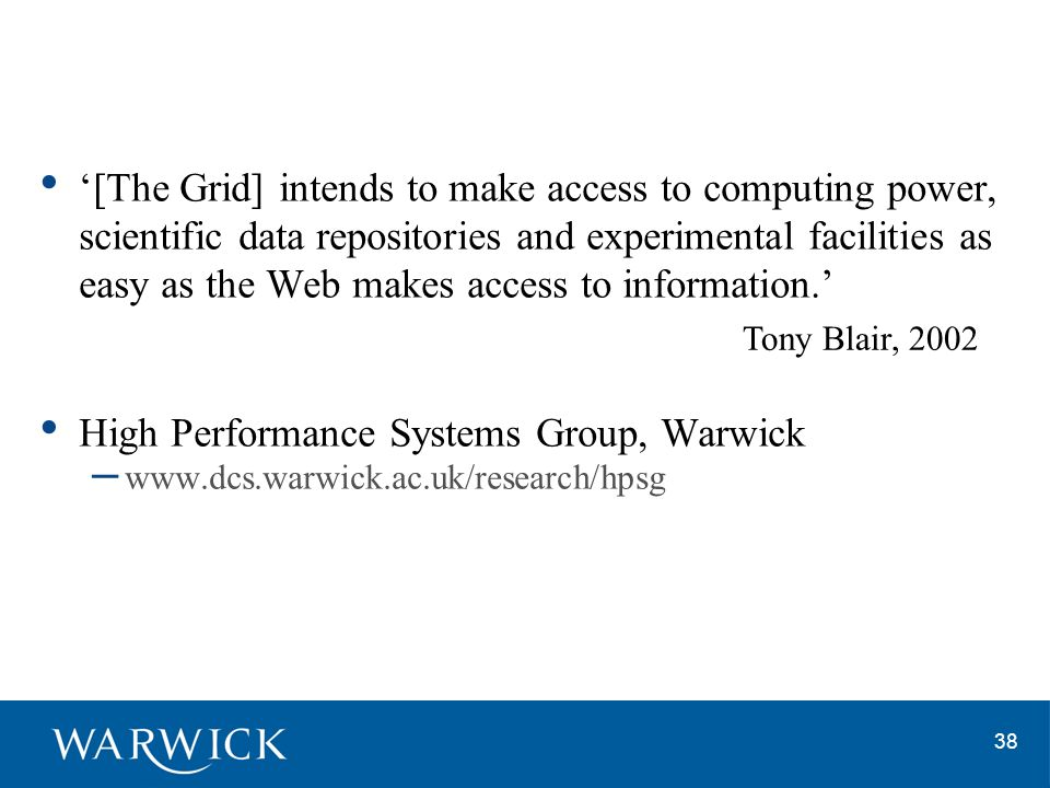 High Performance Systems Group, Warwick