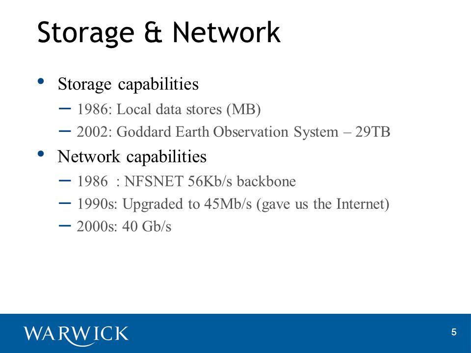 Storage & Network Storage capabilities Network capabilities